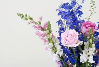 Larkspur often is used in cut-flower arrangements