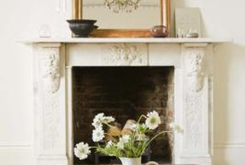 Simple decor requires minimal mantel accessories.