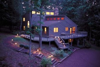 Exterior house lights are functional and also set the mood.