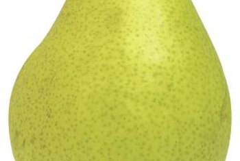 Pests injure the skin and flesh of pears.