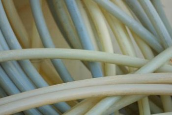 Insulation protects PEX tubing from the damaging effects of cold weather and sunlight.