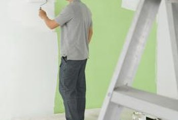 Preparation is the key to painting wallpaper.