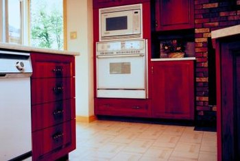 Tiled floors are often higher than the floor beneath your dishwasher.
