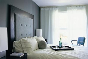 ... Bedroom With Dark Gray Walls. Gray Coordinates Well With A Variety Of  Other Colors.