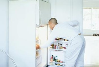 A thermostat controls and monitors a refrigerator's temperature.