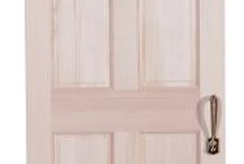 Refinishing a wooden door can take several days, so plan accordingly.