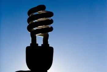 Compact fluorescent lamps use less electricity and produce less waste heat than incandescent bulbs.