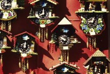 Displaying a collection of unusual objects like cuckoo clocks can dress up a room.