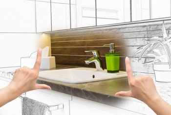 Careful planning makes a bathroom remodel job proceed smoothly.