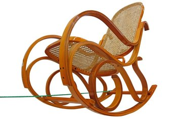 The average do-it-yourselfer can repair the cane webbing seat of a bentwood rocking chair.