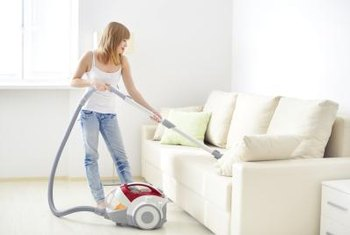 Vacuum the upholstery thoroughly before cleaning with your cleaner of choice.