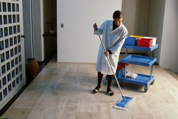 Use professional cleaning tools to get large areas of tile spic and span.
