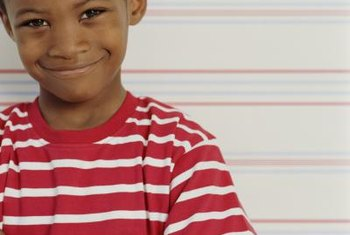Horizontal stripes are a fun way to add color to a kid's room.