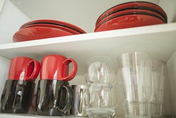 Clean out the inside of the cabinet as well to remove lingering odors.