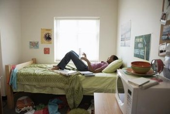 Dorm rooms usually have extra-long twin beds.