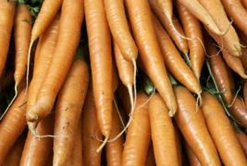 The beta carotene in carrots gives them their orange color.