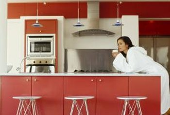 Surfaces in kitchens need a slight sheen to prevent stains and to make cleaning easier.