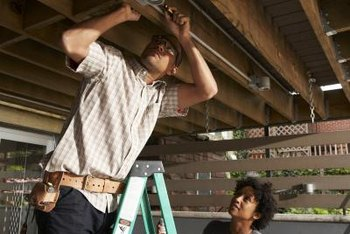 Attaching An Electric Wire Under A Ceiling Joist Home Guides Sf Gate
