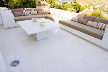 Deep seating makes outdoor living comfortable, but requires maintenance.