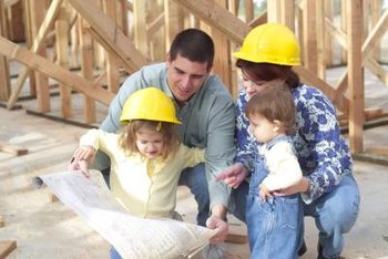 Building a new house is an experience the whole family can take part in.