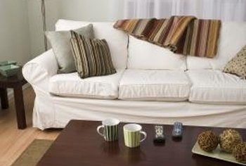 Warm, comfortable materials can make a drab apartment look chic.