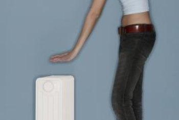 Oil-filled heaters serve as a portable heat source.