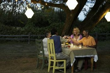 Give your dining room table a new purpose outdoors.