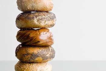 Bagels use high-gluten flour to get their chewiness.