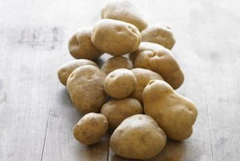 Potatoes are a good source of dietary fiber.