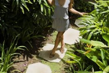Transform a stepping-stone walkway with paint.