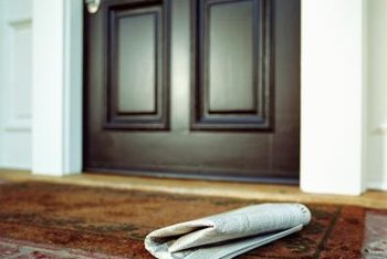 Replace entry doors using accurate measurements.