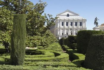 Topiary has been used to decorate gardens since Roman times..