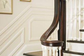 Gel stains provide ample coverage, allowing you to dramatically update your handrail.
