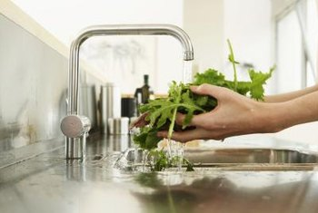 Rinse your homegrown greens thoroughly before eating them.
