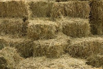 Consolidating your straw in one pile makes it easier to break up and spread.