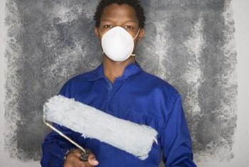 It is important to wear a dust mask or respirator when working with paint.
