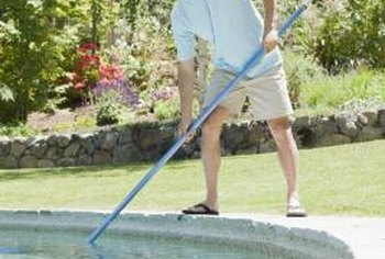 Increase your pool pump's efficiency by regularly clearing debris from the water.