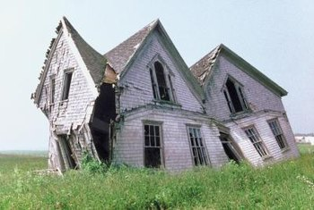 Substandard houses are often in severe disrepair.