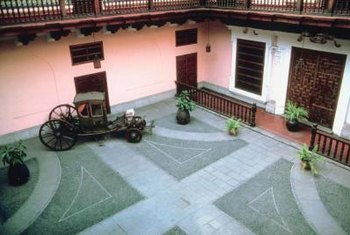 A decorative driveway or patio adds interest to any home.