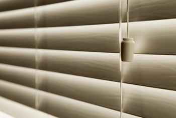 Faux wood blinds are an attractive and economical choice for windows.