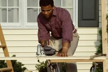 A circular saw is the quickest tool for cutting a lot of siding.