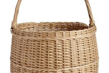 Paint gives an old basket a fresh new look.