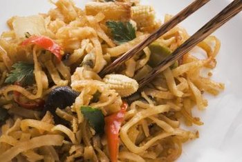 Rice noodles are a safe pasta to eat on a low-residue diet.