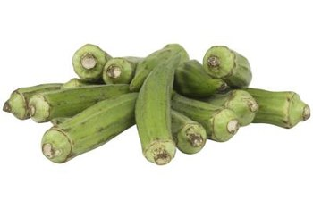 Okra pods add fiber to soups and stews.
