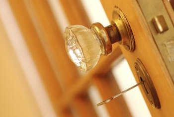 Bumpers prevent wall damage from doorknobs.