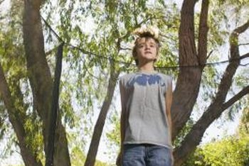 An in-ground trampoline may be even safer for your kids than protective netting.