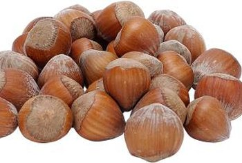 Husking a hazelnut will remove the bitter flavor of the skin.