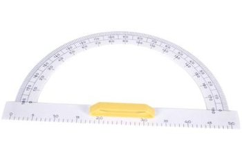 The protractor is a simple drawing tool useful for any type of construction.