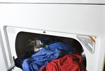 Lubing a clothes dryer drum can eliminate squeaks and rumble noises.
