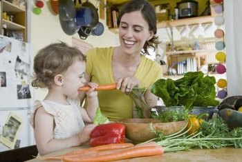 A vegetarian diet can help your child develop a preference for fresh produce.